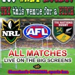 Rugby LIVE at X-Ta-Sea this Weekend