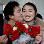 Couples rush to get married on Bachelor's Day